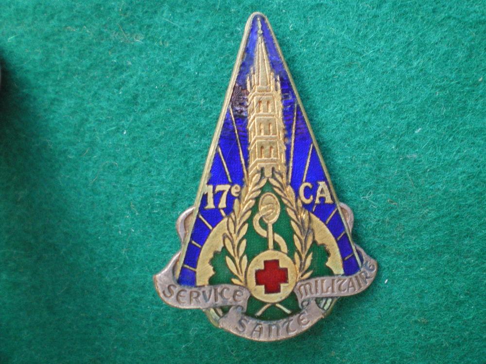 Insigne de Santé - Service de Santé du 17° Corps d'Armée. 38 Caen (14)