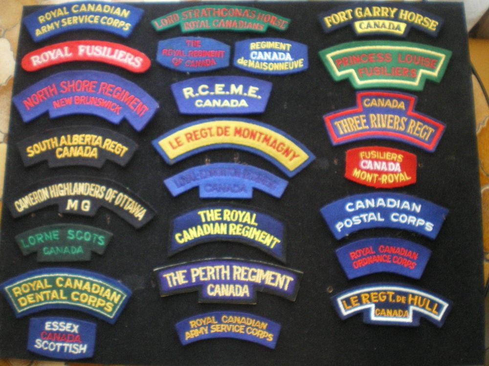 Insignes d'épaules en tissu de régiment canadien. 6 Caen (14)