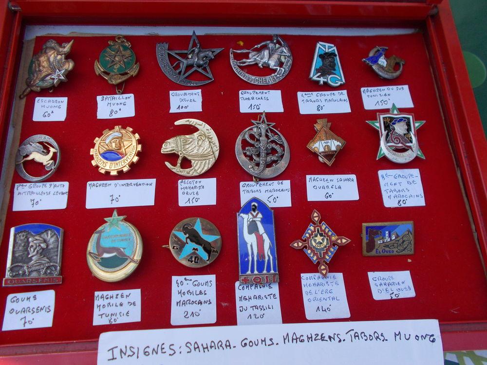 lot d'insignes sahara,à l'unité ou en lots (me contacter), 1 Dozulé (14)