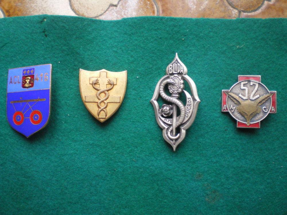 Insignes de Santé Hôpital Militaire Ducros et Ambulances. 30 Caen (14)