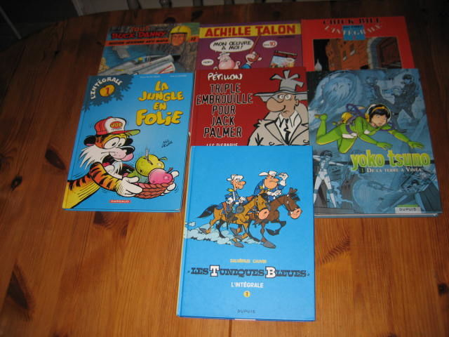 lot 7 INTEGRALE BD buck danny tuniques bleues yoko tsuno achille talon chick bill etc... 50 Cézy (89)