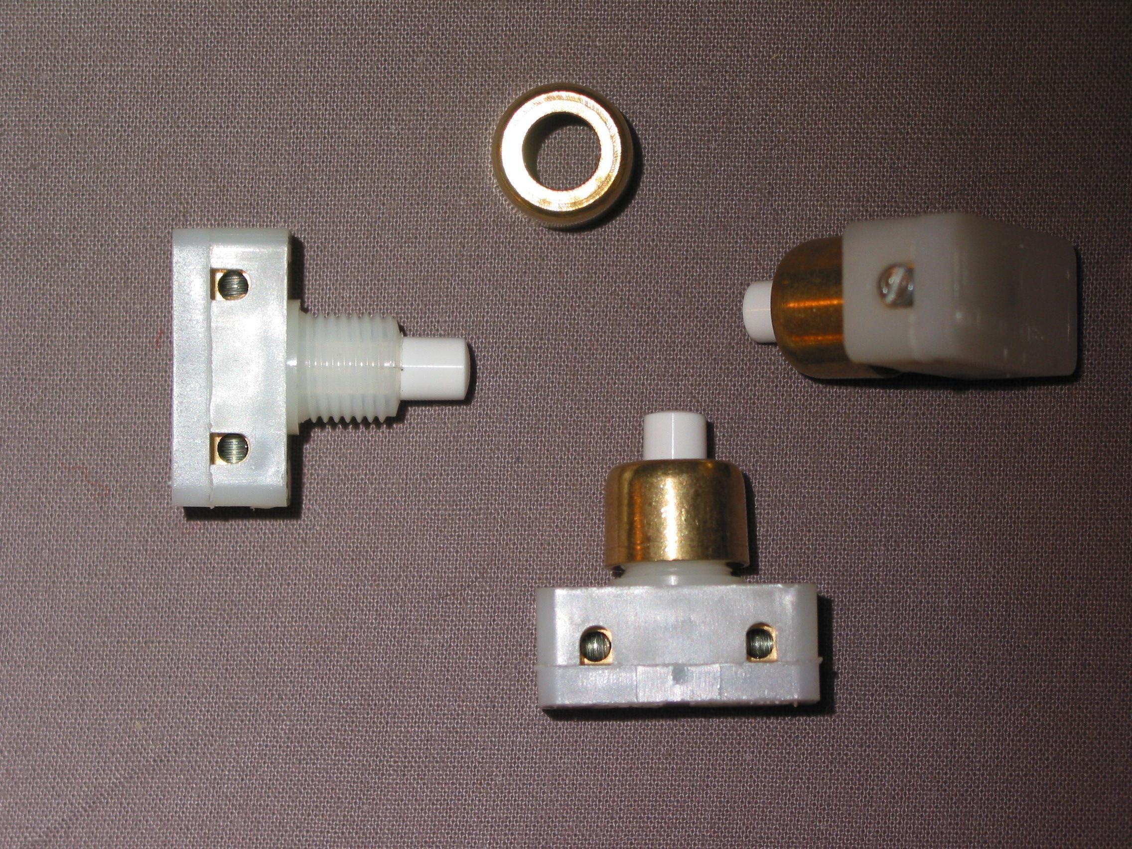 LOT DE 3x interrupteur poussoir écrou laiton or bornes vis  7 Marseille 13 (13)