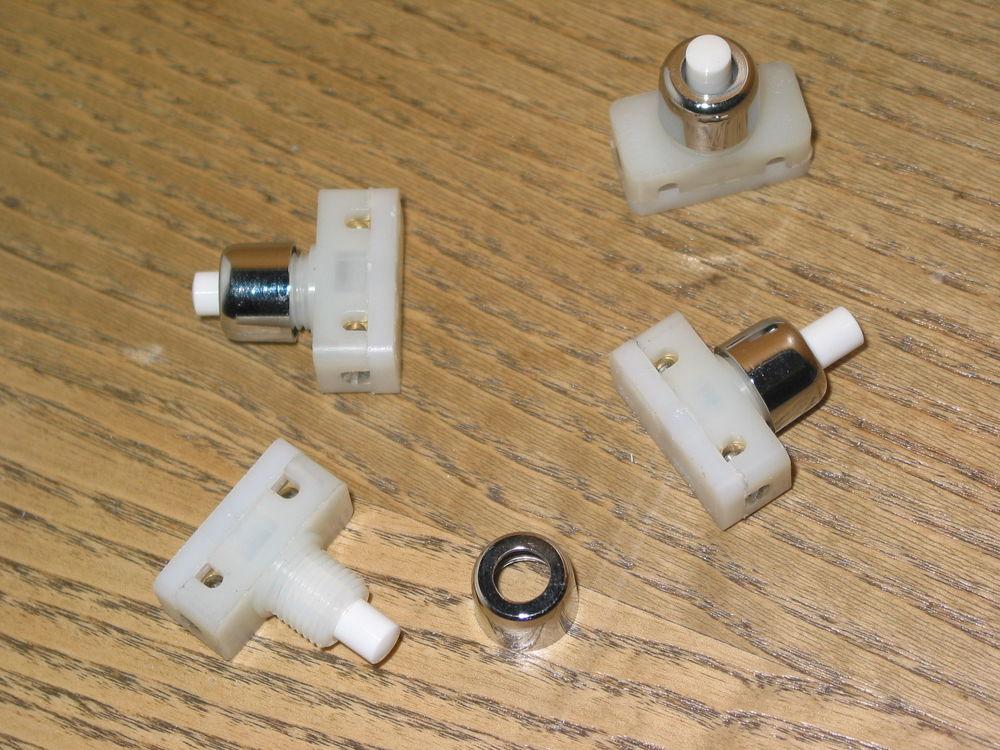 1 un interrupteur poussoir écrou CHROME lampe jumo 8 Marseille 13 (13)
