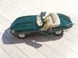 Jaguar Cabriolet Vintage, Métal, 12 cm, Etat Neuf