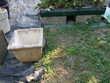 Jardinière en pierre.