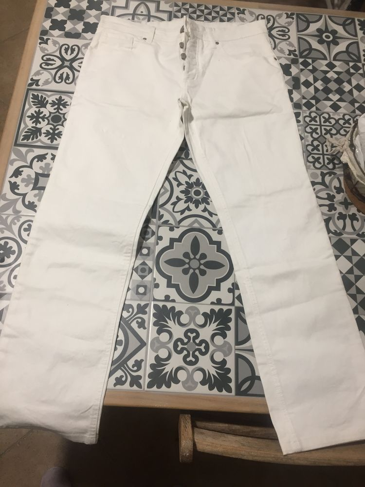 jean blanc homme taille 42  10 Guerville (78)