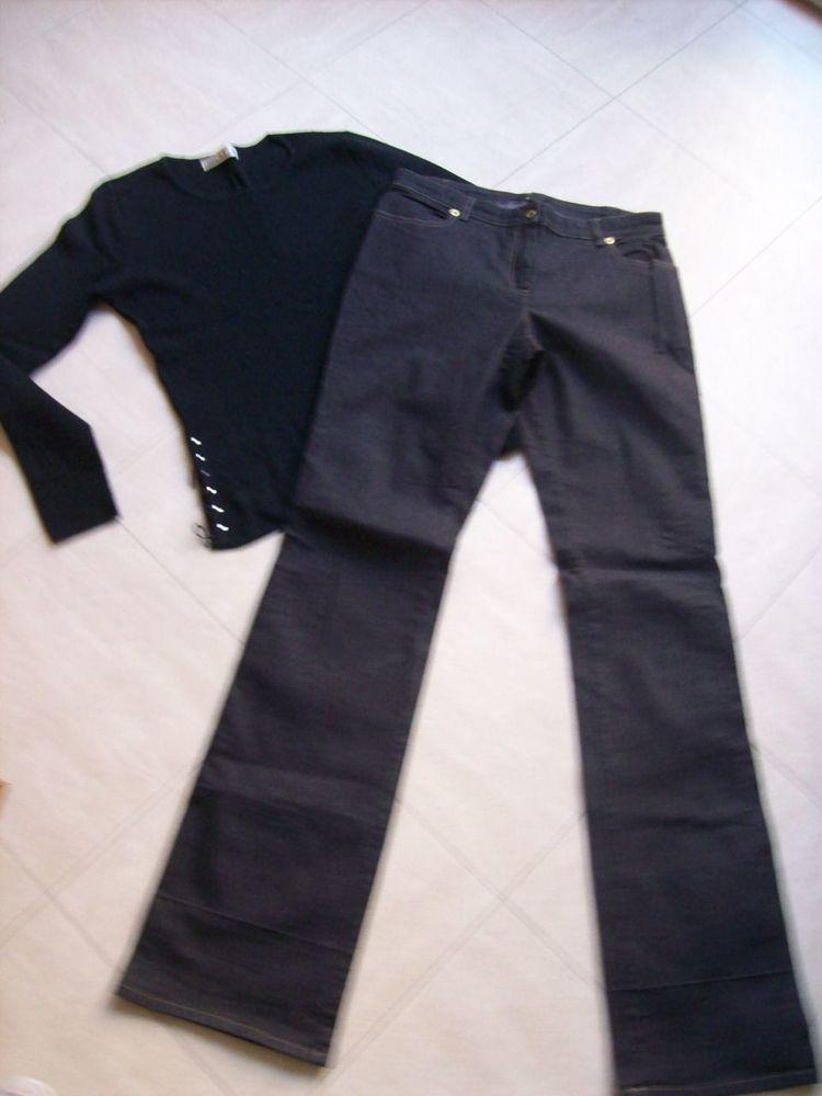 jean foncé, pull, jupe culotte, gilet - 38 - zoe 2 Martigues (13)