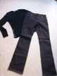 jean foncé, pull, jupe culotte, gilet - 38 - zoe