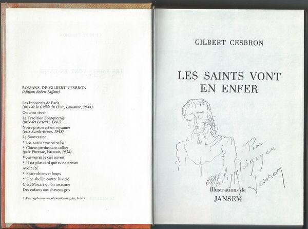 Jean Jansem: dessin original et dédicace 310 Lourdes (65)