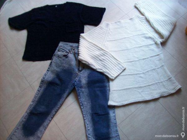 JEAN + PULL blanc + PULL noir -M,44,XL- zoe 4 Martigues (13)