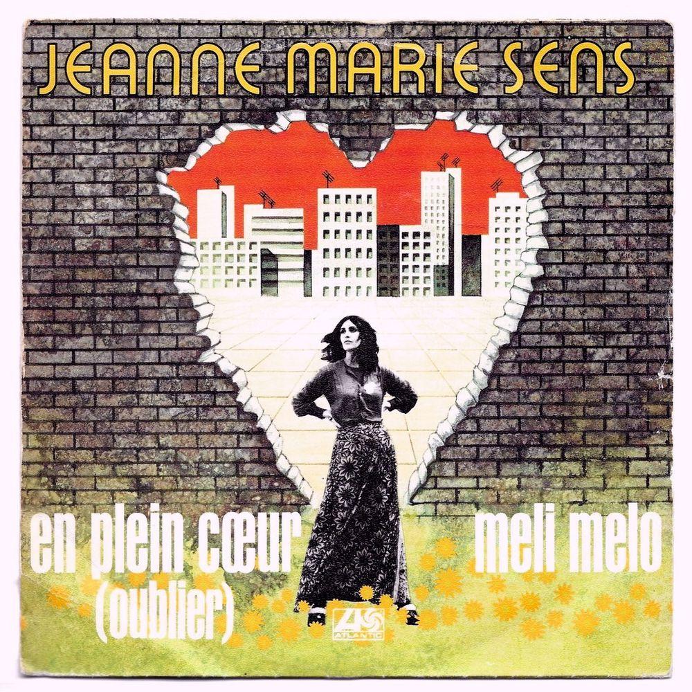JEANNE MARIE SENS -45t- EN PLEIN COEUR (OUBLIER) - 1973 3 Tourcoing (59)
