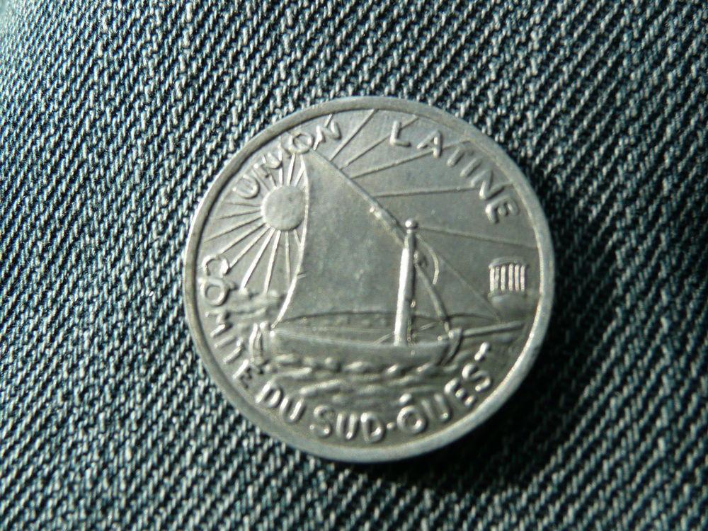 Jeton Alu BP 10 centimes Toulouse 1922-1930 4 Bordeaux (33)