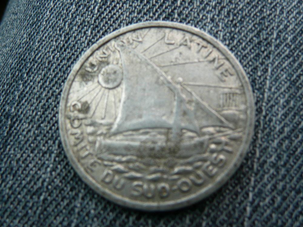 Jeton alu B.P 25 centimes Union Latine 1922-1933 7 Bordeaux (33)