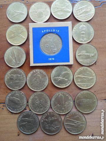 Lot de 20 jetons métal doré Shell années 1970 20 Lorient (56)