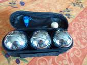 jeux  de  3  boules avec cochonnet  et  marqueur 13 Marcheprime (33)
