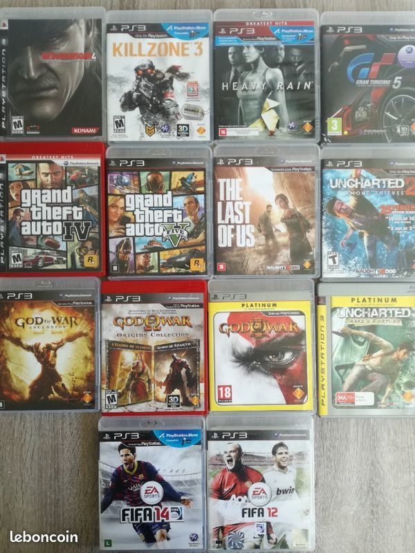 Jeux Console Ps3 Uncharted 2+3 + Fifa 12 Lot 6 Eur 6 Nice (06)