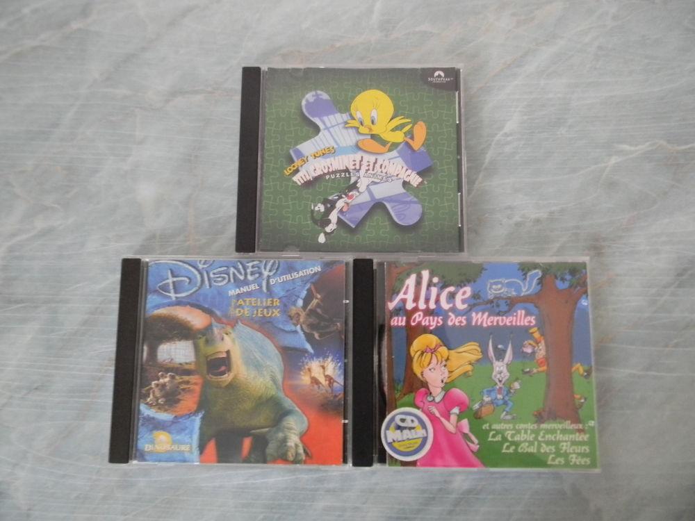 LOT DE 3 CD DE JEUX PC/MAC POUR ENFANTS 4 Fossé (41)