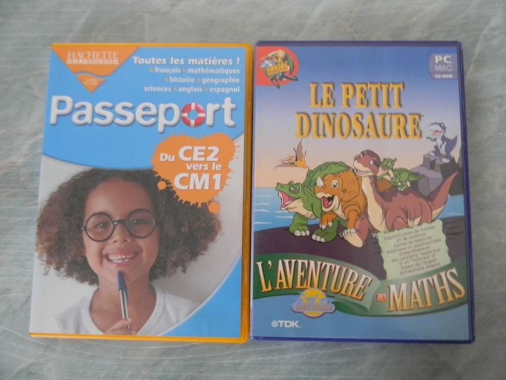 LOT DE 2 CD DE JEUX PC/MAC POUR ENFANTS DVD et blu-ray