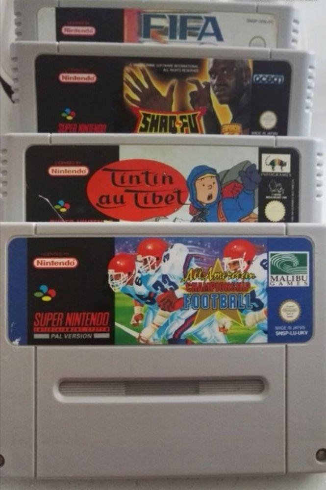Lot de 4 Jeux Super Nintendo 35 Auxerre (89)