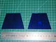 Jeux de 2 verres FACE de lampe PIROUETT DE BUREAU vitrail bl Marseille 13 (13)