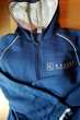Jogging bleu turquoise avec capuche