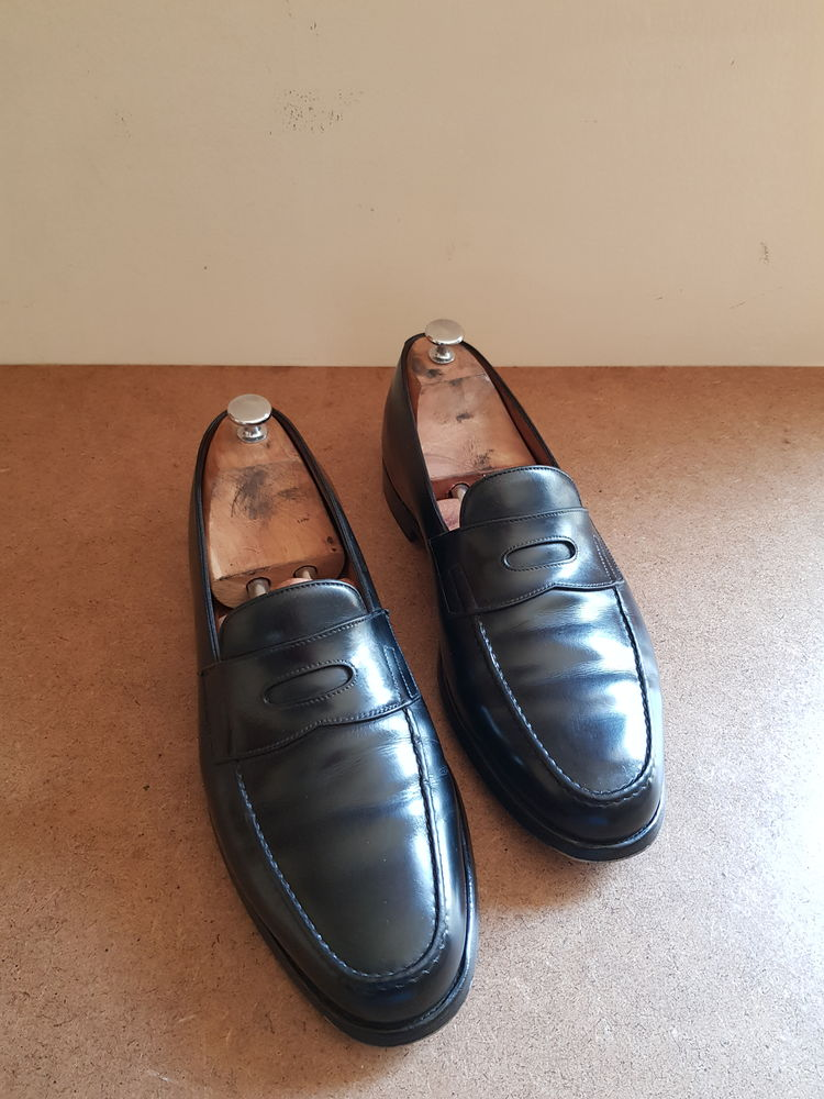 John LOBB - Mocassins noirs modèle LOPEZ - Taille 44,5 (10) 300 Paris 14 (75)