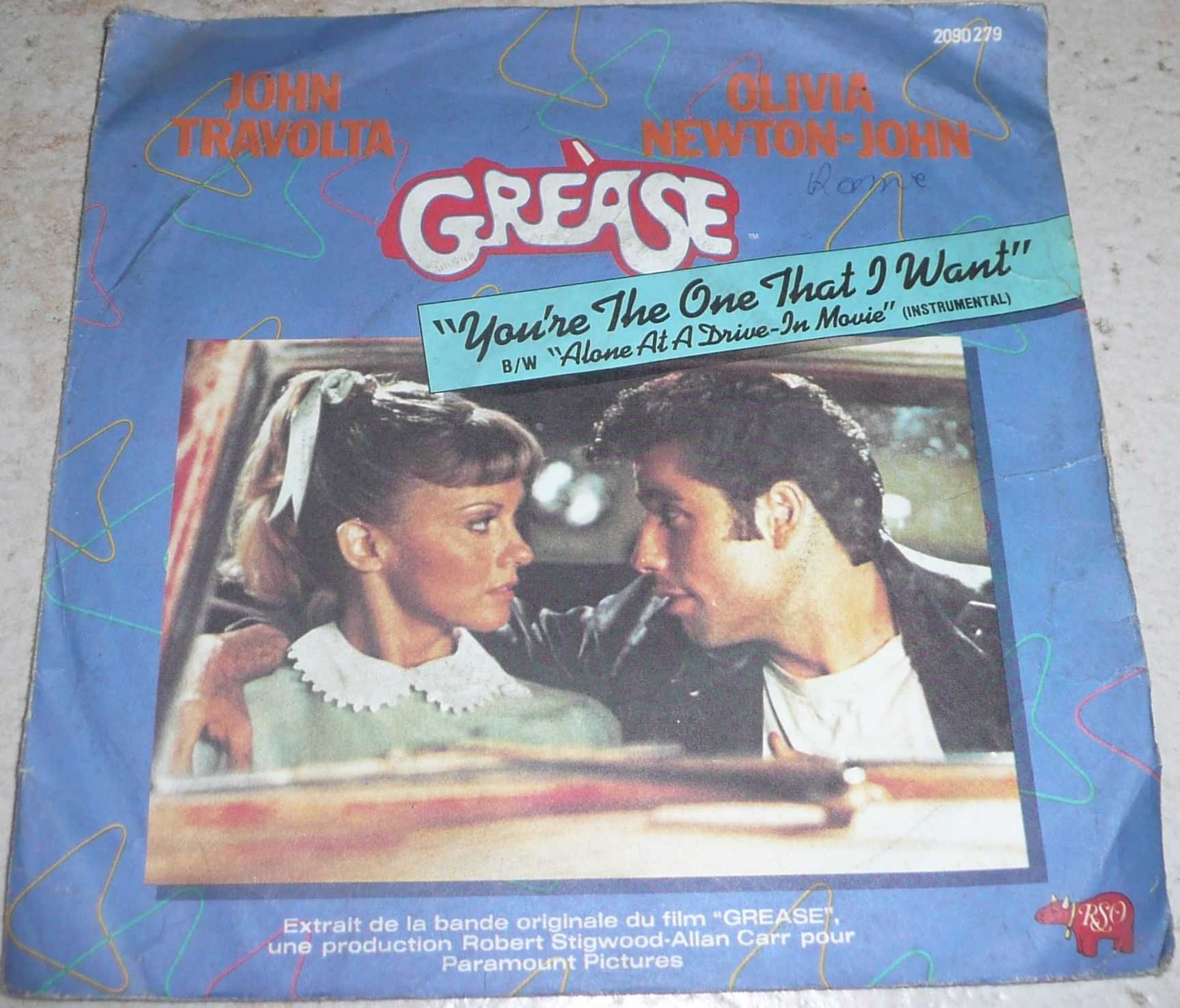 John Travolta Olivia Newton John Grease - France - John Travolta Olivia Newton John Grease... - France