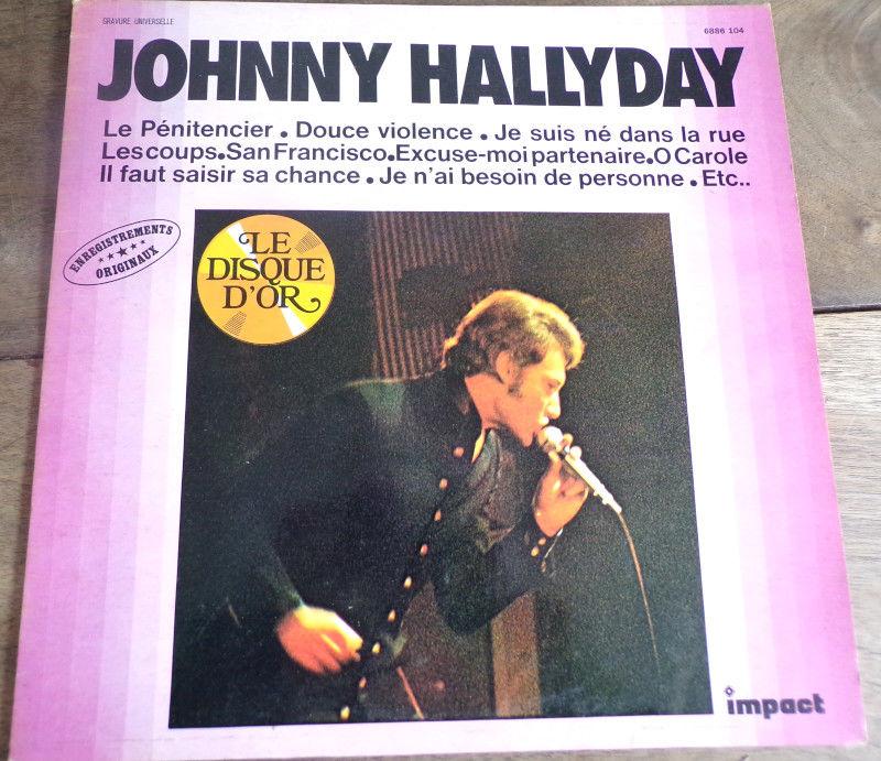 Johnny Hallyday le disque d' or vinyle disque 33 tours  4 Laval (53)