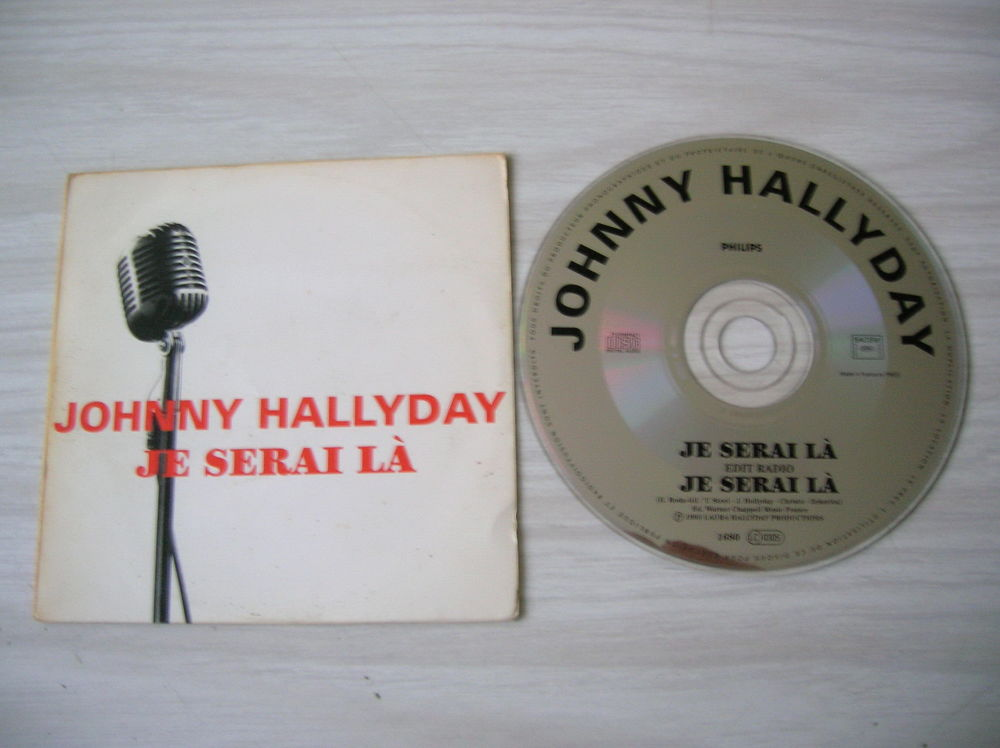 CD JOHNNY HALLYDAY Je serai là - PROMOTIONNEL 85 Nantes (44)