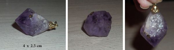 Joli pendentif point  Améthyste  25 Antibes (06)