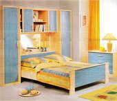 Jolie chambre pont érable et bleu pastel 200 Cadaujac (33)