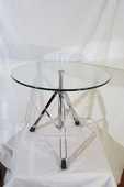 Jolie petite table design chrome et verre 230 Paris 15 (75)