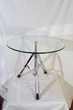 Jolie petite table design chrome et verre Paris 15 (75)