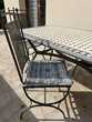 Jolie table de jardin mosaïque et ses 4 chaises Occasion Jardin