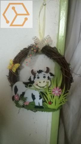 Jolie vache à accrocher en rotin 6 Talange (57)