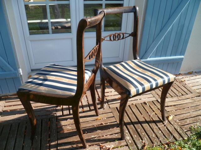 4 jolies chaises style empire originales et en bon état 20 Trévoux (01)