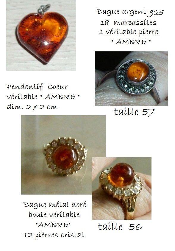 3 Jolis bijoux d'AMBRE de la Baltique 30 Antibes (06)