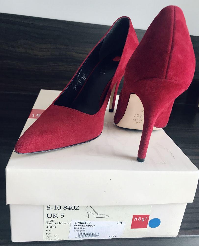 jolis escarpins Rouge Nubuk  38 Neuf Hogl (valeur159 85 Montauban (82)