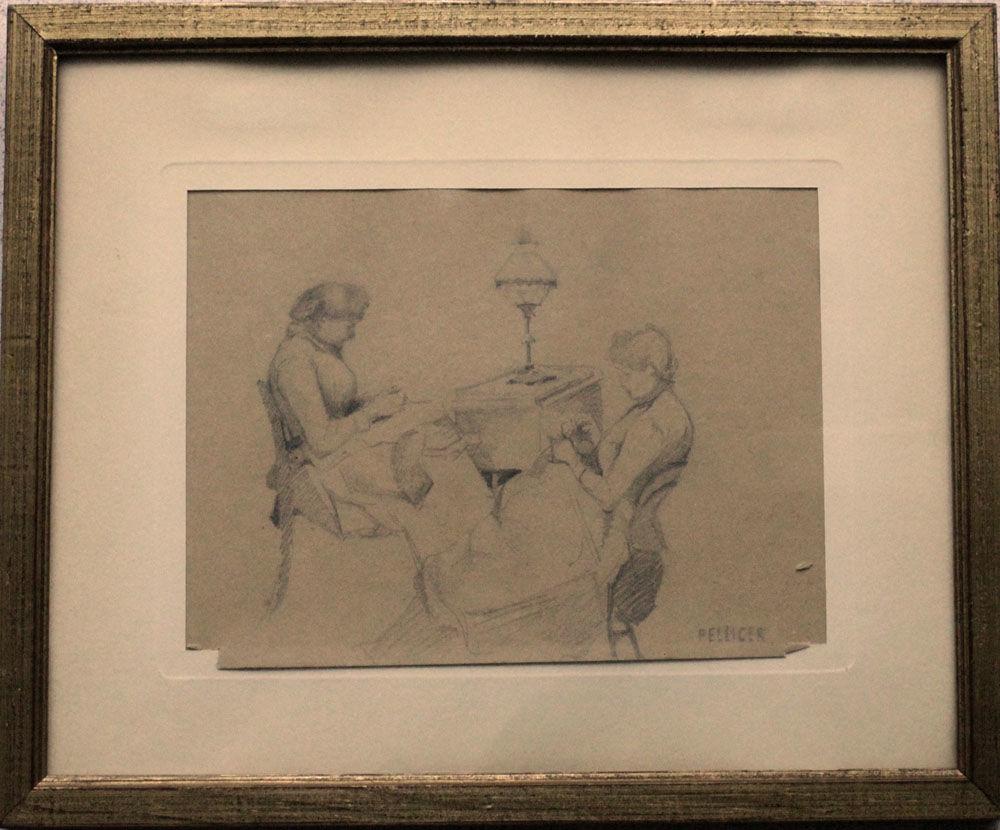 JOSEP LUIS PELLICER FEÑÉ (1842-1901) ANCIEN DESSIN 90 Nice (06)