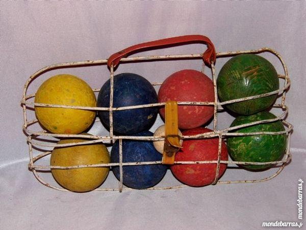 Jouet ancien boule pétanque bois coloré années 50 20 Dunkerque (59)