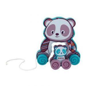 Jouet à tirer : Panda et son bébé à roulettes 5 Beauchamp (95)