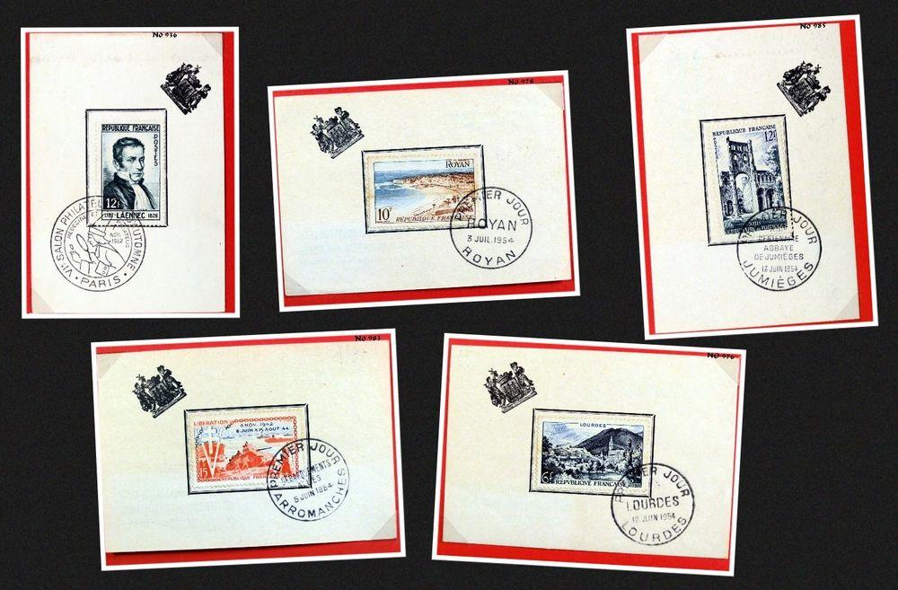Lot de 1er jour de 1952 à 1965 5 Chaumontel (95)