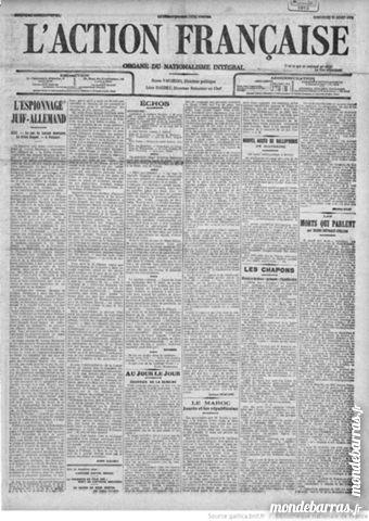 JOURNAL 1912 L'ACTION FRANCAISE N° 70 D 10 MARS Livres et BD
