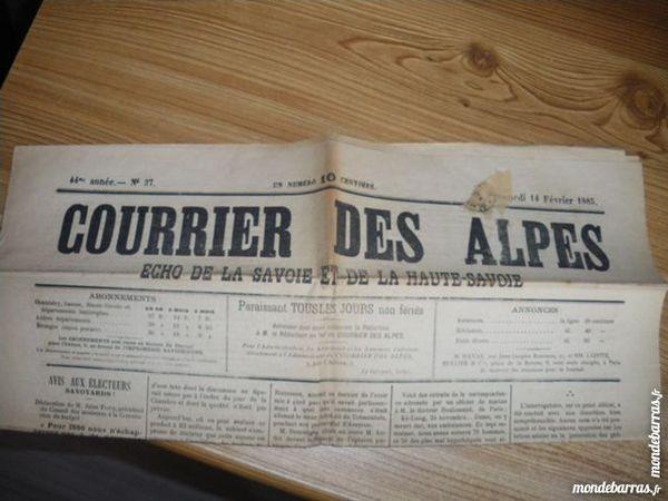 Journal ancien   1885!!! 1 Saint-Jean-de-Maurienne (73)