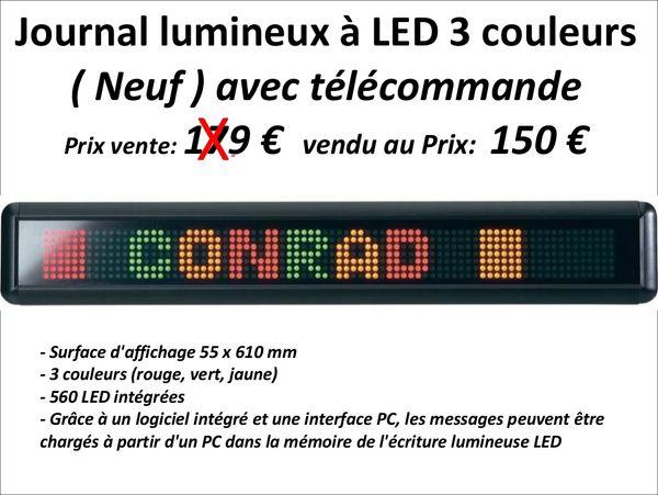 Journal lumineux à LED 3 couleurs 150 Étréchy (91)