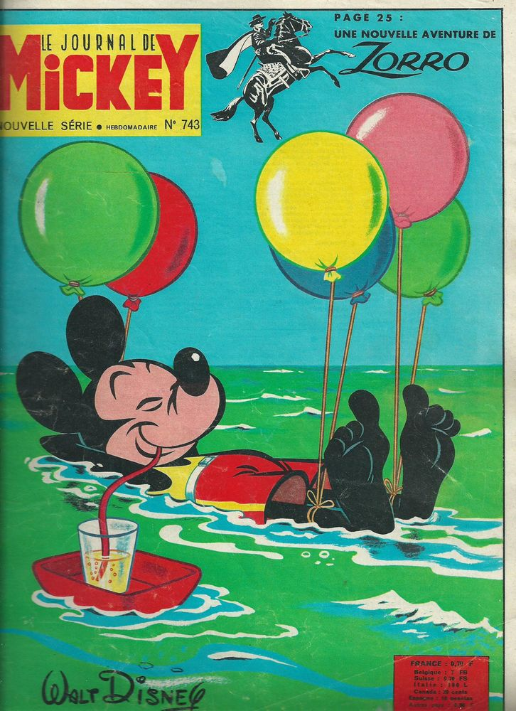 lot de 4 No Le Journal de Mickey 1966 16 Tours (37)
