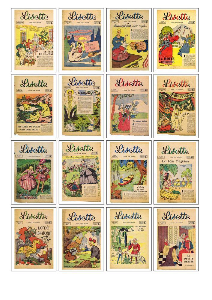 31 journaux  Lisette en lot -- Rébus mots croisés bavoir bro 30 Maransin (33)