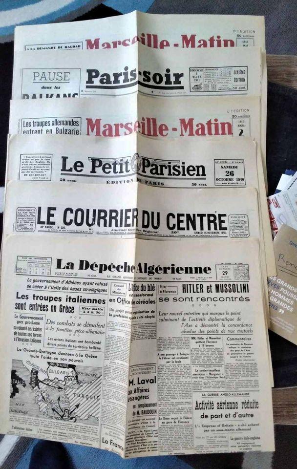 journaux FS an 39/40/41 8 Vendôme (41)