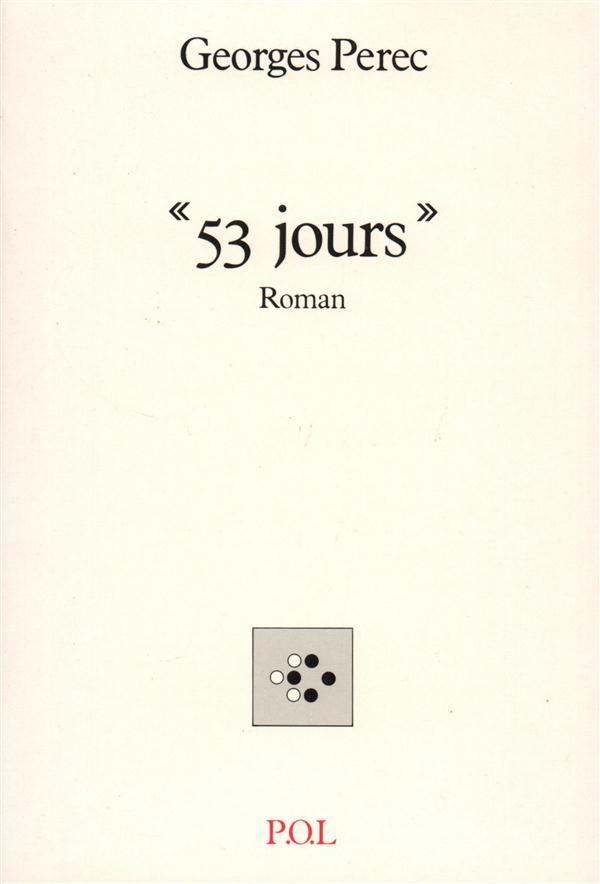 53 jours - Georges Perec, Livres et BD