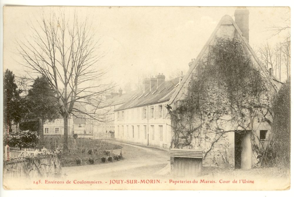 CPA JOUY-SUR-MORIN. Papeteries du Marais 7 Jouy-sur-Morin (77)